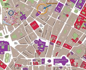 Plan de Situation de l'appartement Capitolo del Duomo à Florence en Italie