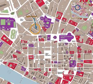 Plan de Situation de l'appartement Lorenzo Novella Terrasse à Florence en Italie