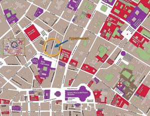 Plan de Situation de l'appartement Lorenzo Suite d'Or à Florence en Italie