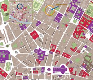 Plan de Situation de l'appartement San Marco Garden à Florence en Italie