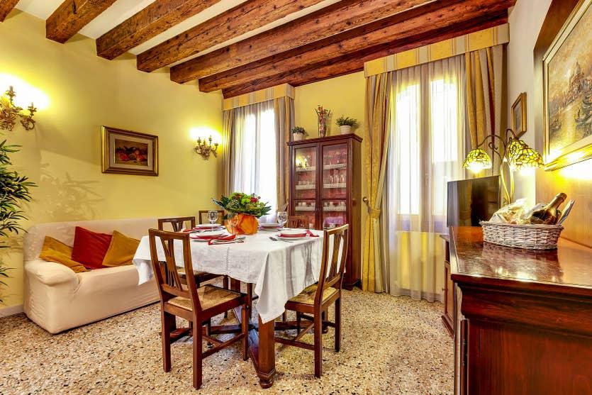 Location Forner Marina à Venise, le salon-salle à manger