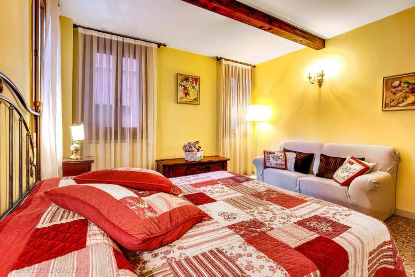 Location Forner Marina à Venise, la chambre matrimoniale