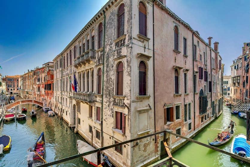 Location Palazzetto Bernardo à Venise, la vue sur le Rio de San Severo
