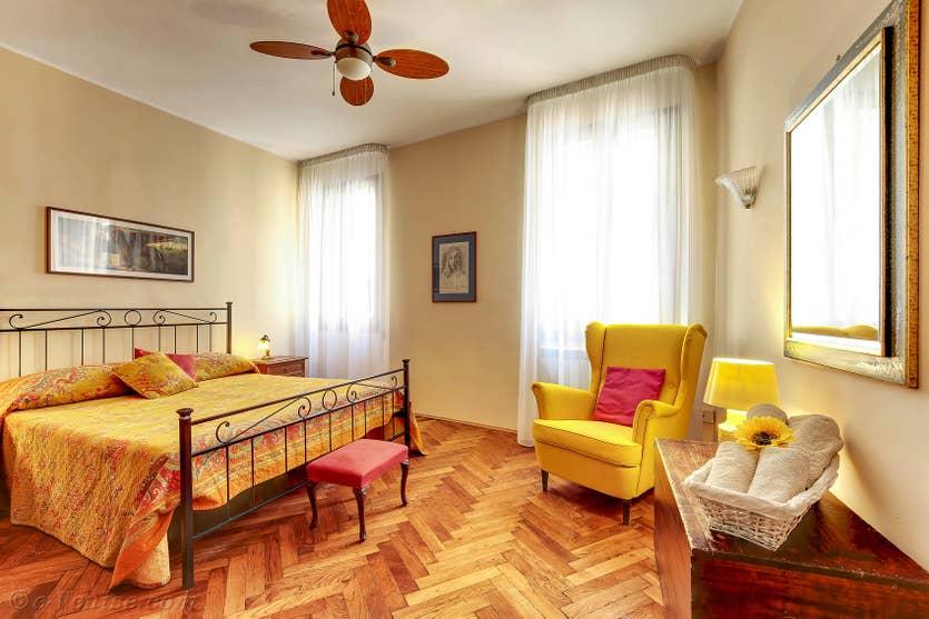 Location Palazzetto Bernardo à Venise, la chambre matrimoniale