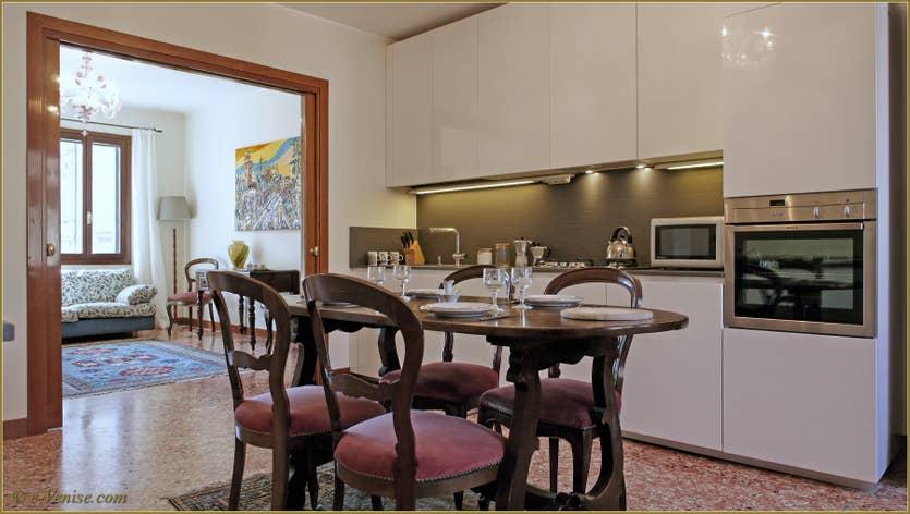 Location Santuzza à Venise, la cuisine salle à manger