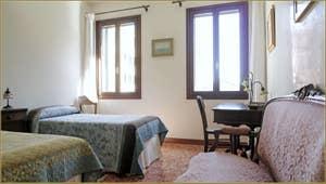 La Seconde Chambre de l'appartement Santuzza, dans le Sestier du Castello à Venise.