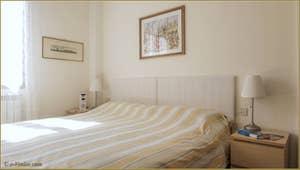La Chambre de l'appartement la Tana, dans le Castello à Venise.