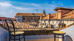 Cerchieri Terrasse location à Venise : La terrasse et sa vue sur les toits de Venise