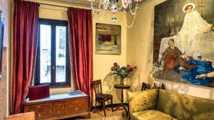 Le Salon de l'appartement Furatola Aponal à Venise