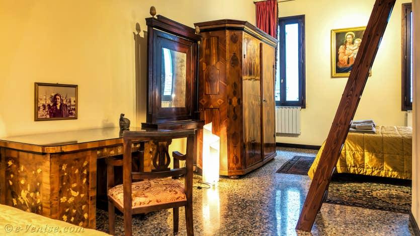 Location Furatola Aponal à Venise, la chambre