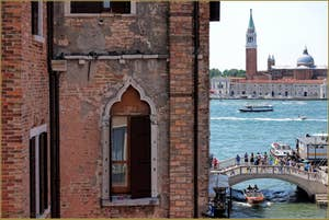 La vue sur San Giorgio Maggiore.