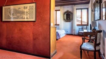 L'entrée du studio Cerchieri Suite à Venise.