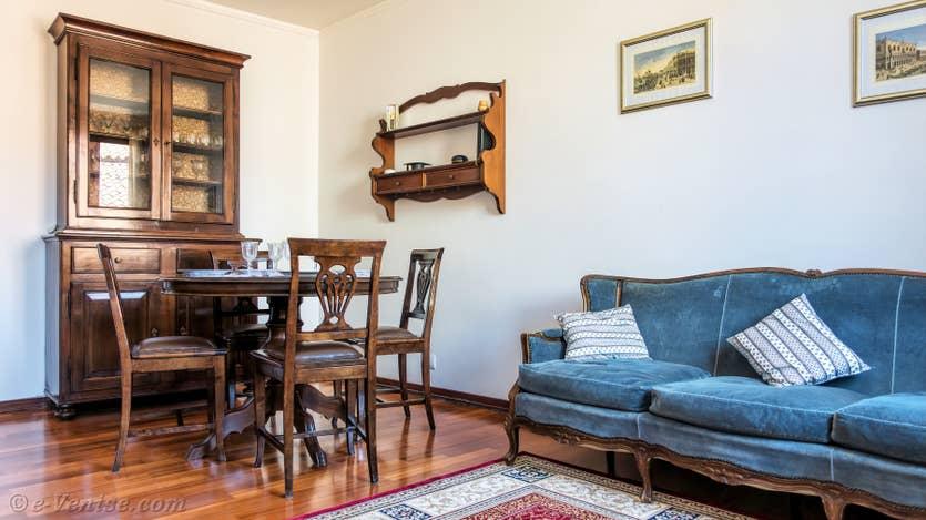 Location Cerchieri Toletta à Venise, le salon salle à manger