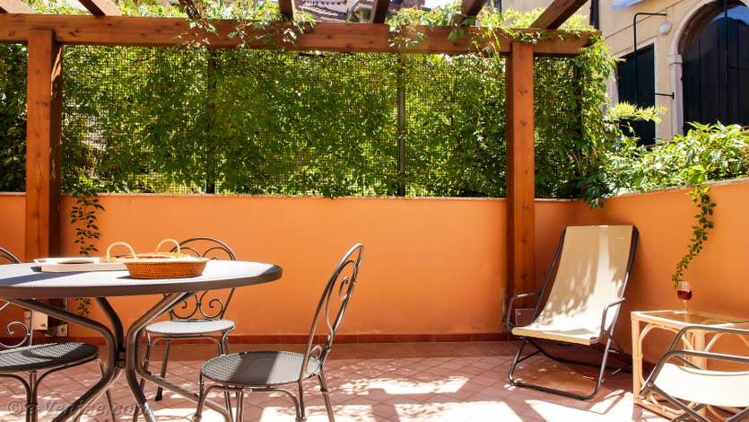 Location Cristie Terrasse à Venise, la terrasse