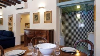 Le Salon Salle à Manger de la Cristie Terrasse, dans le Sestier du Castello à Venise.