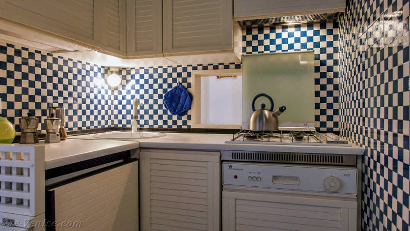 Location Cristie Terrasse à Venise, la cuisine