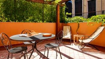 La terrasse privée de la Cristie Terrasse, dans le Sestier du Castello à Venise.
