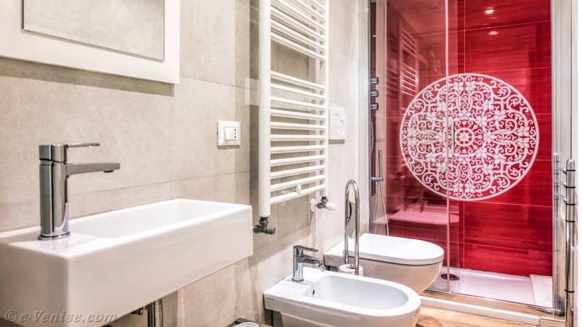Location Felice Priuli à Venise, la salle de bains