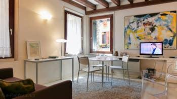 Le Salon Salle à Manger de la Ferali Zulian, dans le Sestier de Saint-Marc à Venise.