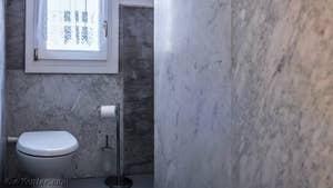 Les toilettes de l'entrée de Giovanni Terrasses à Venise.