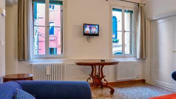 Le salon de Goldoni Vista, dans le Sestier de Saint-Marc à Venise.