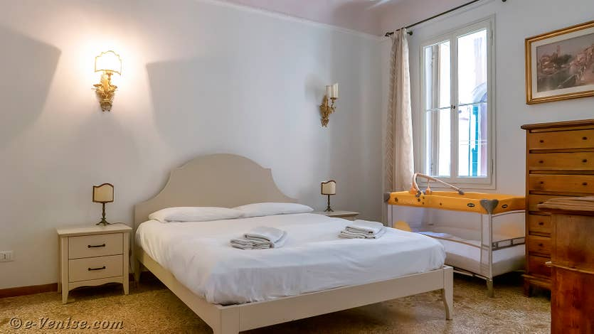 Location Goldoni Vista, chambre matrimoniale