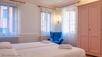 La seconde chambre double de Goldoni Vista, dans le Sestier de Saint-Marc à Venise.