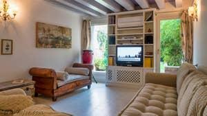 Le salon de la maison à Venise