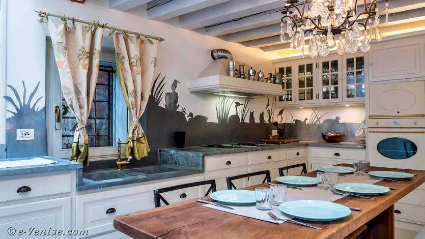Location le jardin d'Alice à Venise, la cuisine