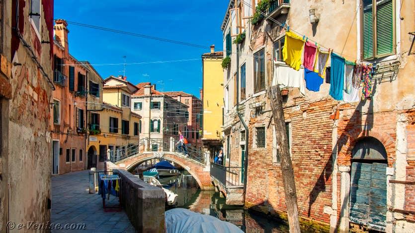 Location le jardin d'Alice à Venise, la vue devant la maison