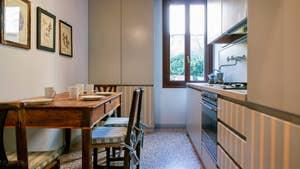 La cuisine de l'appartement Jardin de l'Orto à Venise.