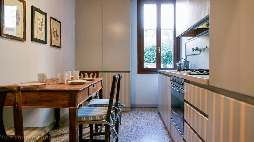 Location Jardin de l'Orto à Venise, la cuisine