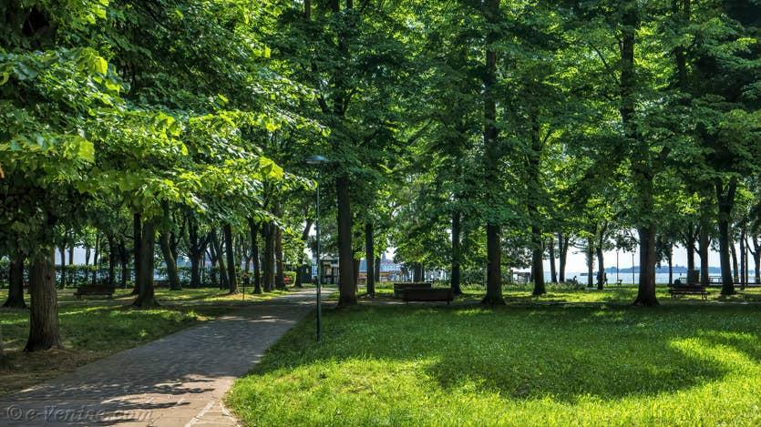 Location Jardin d'Elena à Venise, le parc de Sant' Elena