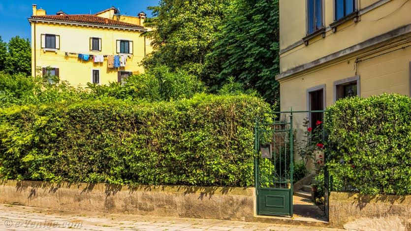 Location Jardin d'Elena à Venise, le jardin