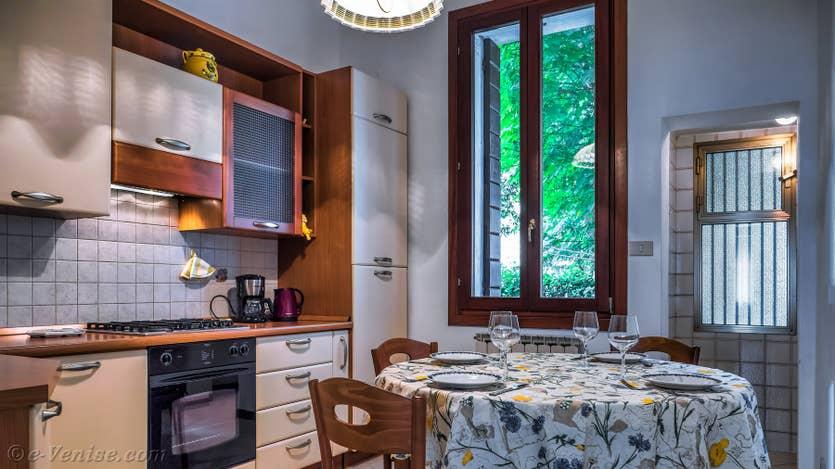 Location Jardin d'Elena à Venise, la cuisine