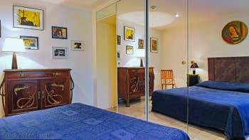 La chambre de l'appartement Jardin Lorenzo Lion, dans le Sestier du Castello à Venise.