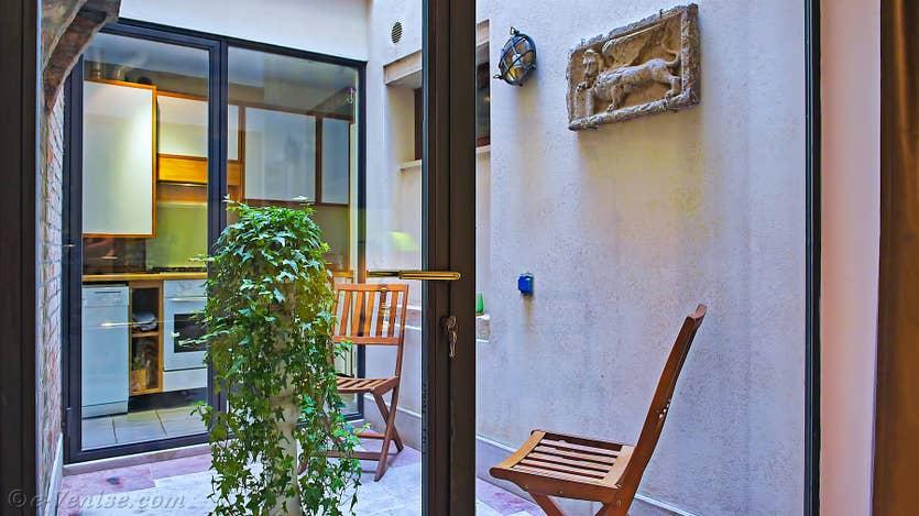 Location Jardin Lorenzo Lion à Venise, la cuisine
