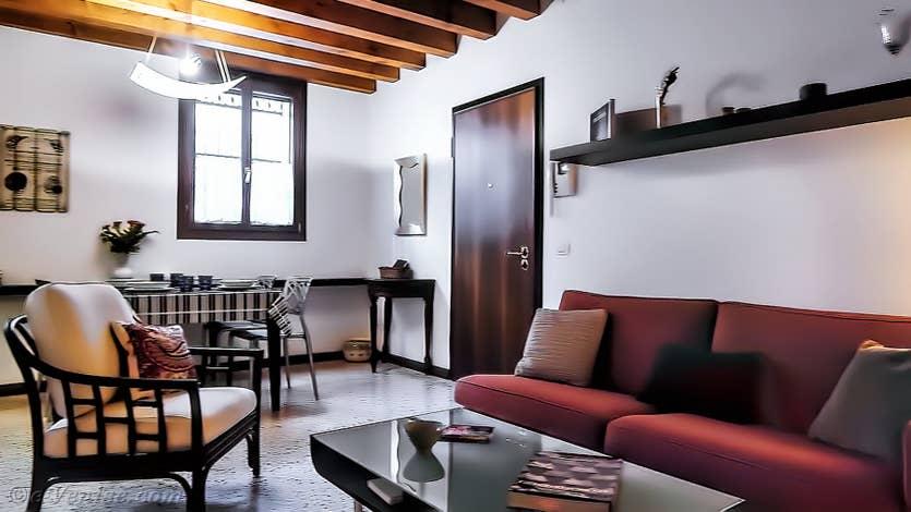 Location Jardin de l'Orto 2 à Venise, le salon salle à manger