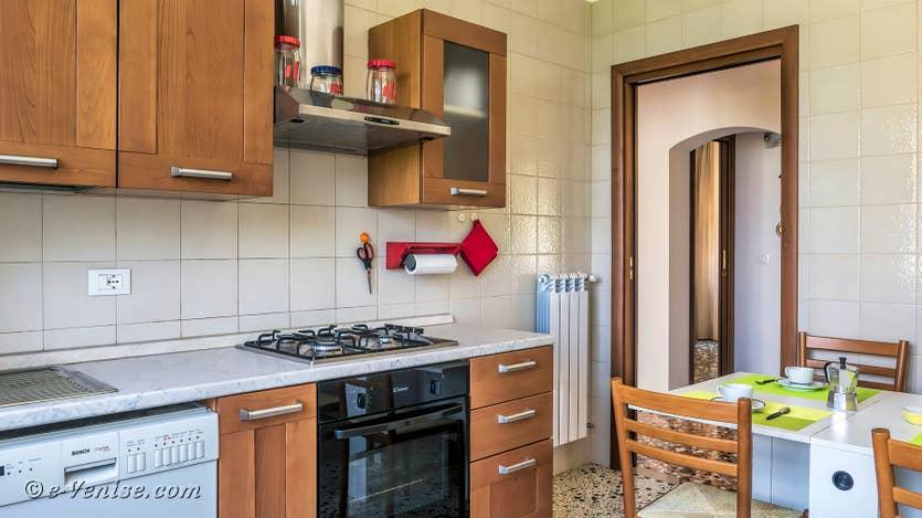 Location Lido Gallo Vista à Venise, cuisine