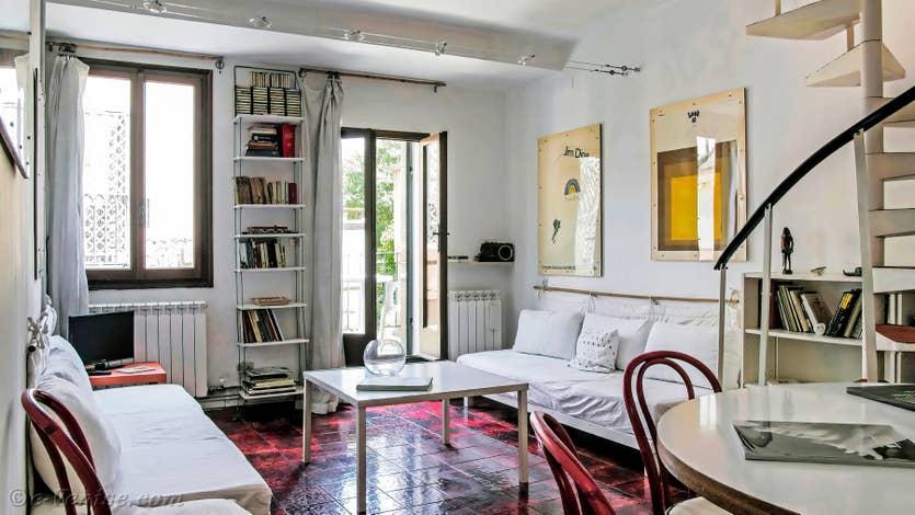 Location Lorenzo Severo Terrasse à Venise, le salon salle à manger