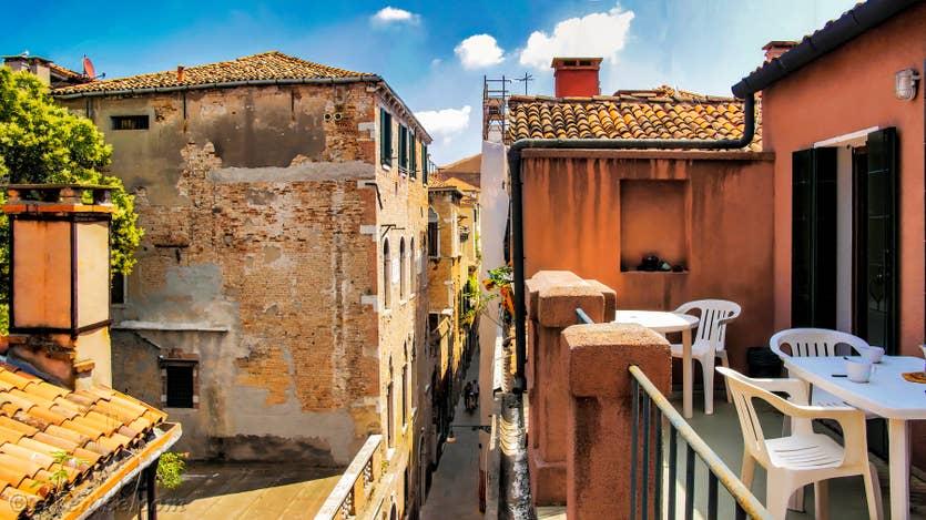 Location Lorenzo Severo Terrasse à Venise, la première terrasse