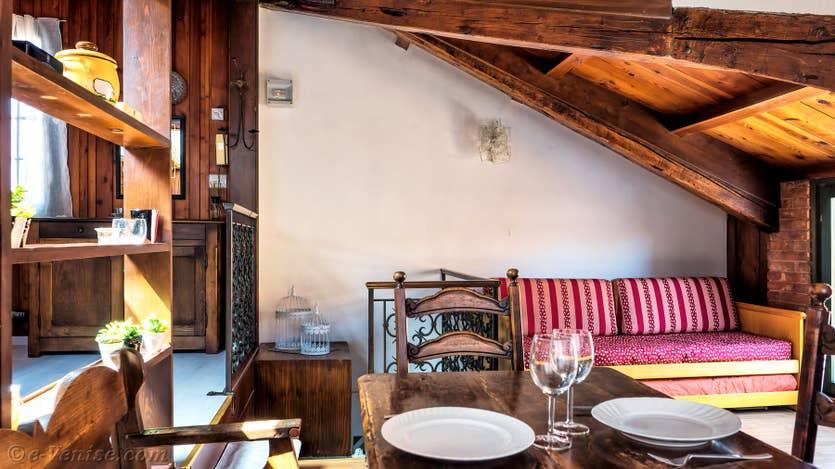 Location Malpaga Terrasse à Venise, la salle à manger