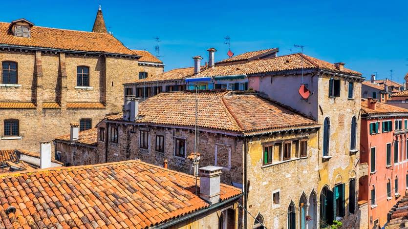Location Malpaga Terrasse à Venise, la vue sur les toits de Venise