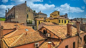 La vue sur les toits de Venise