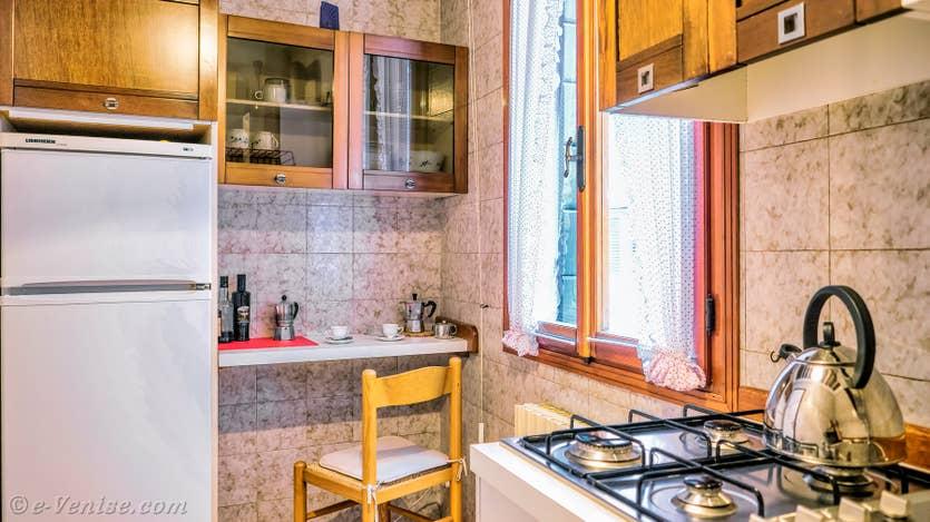 Location Malpaga Toletta à Venise, la cuisine