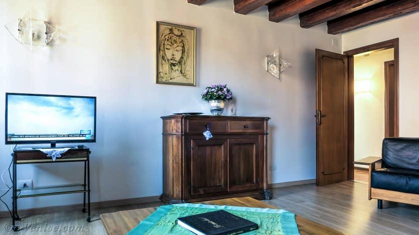 Location Malpaga View à Venise, le salon salle à manger