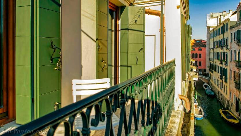Location Orio Boldo à Venise, la vue depuis le balcon