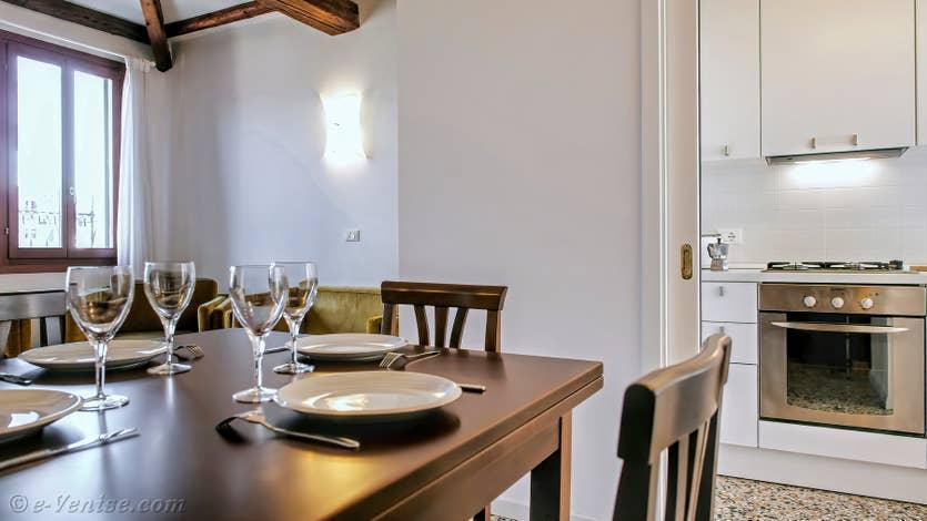 Location Orio Boldo à Venise, le salon salle à manger