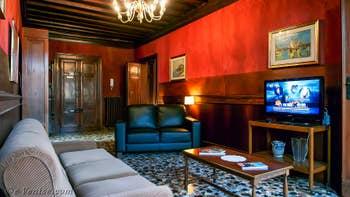 Le Salon de l'appartement Orio Boldo Terrasses à Venise.