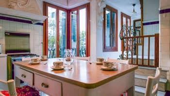 La Cuisine Salle à Manger de l'appartement Orio Boldo Terrasses à Venise.